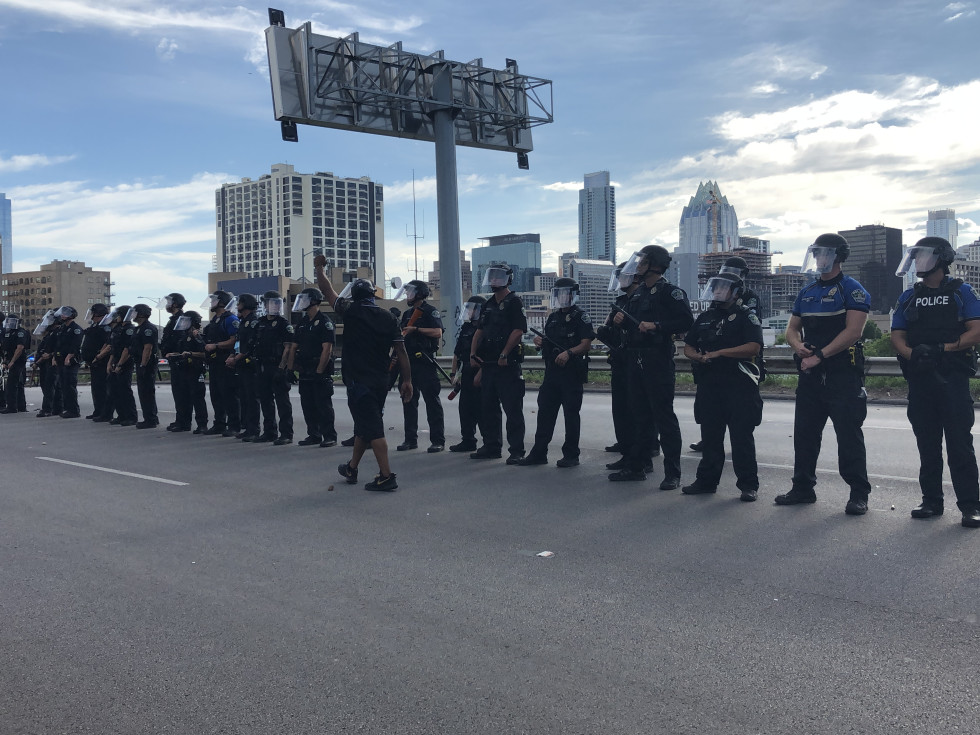 Austin protests saturday apd 1-35