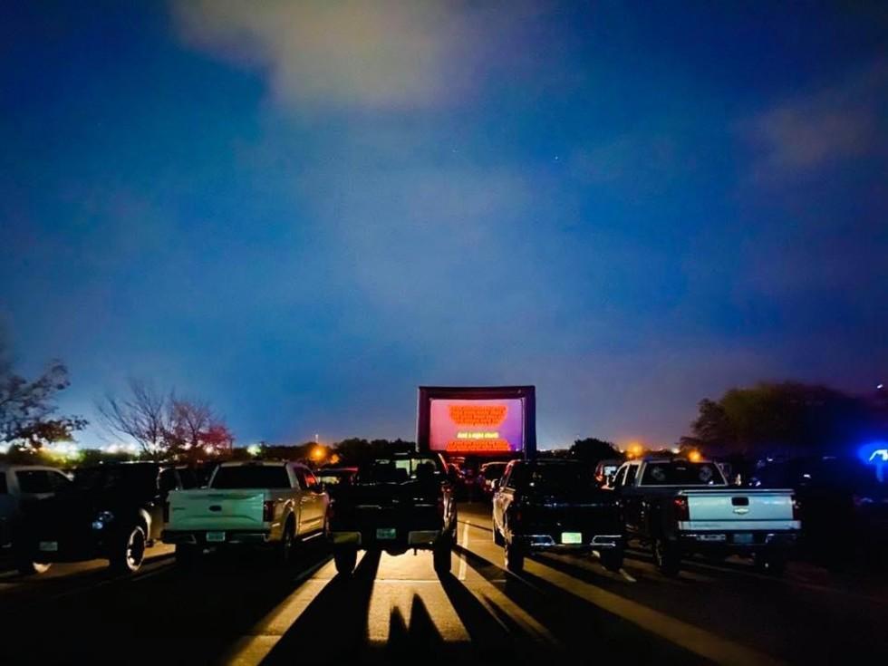 Blue Starlite Drive-in movie theater