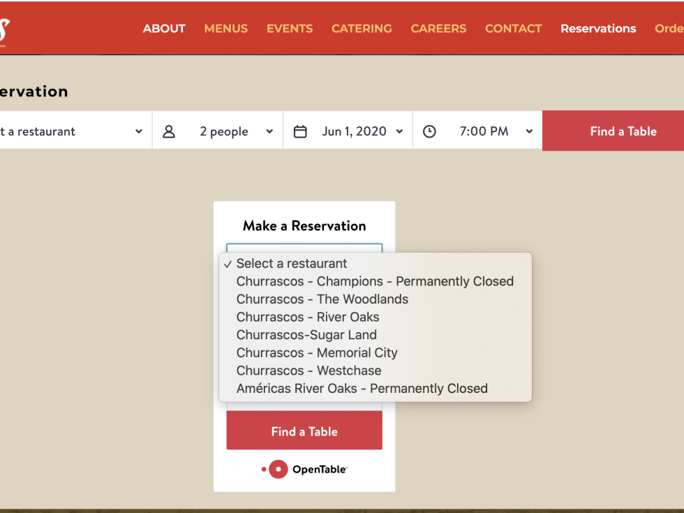 Americas River Oaks website screen shot