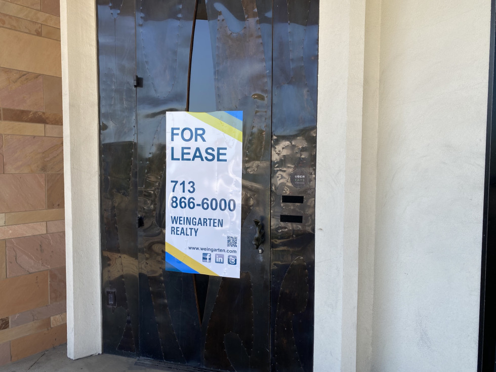 Americas River Oaks for lease sign