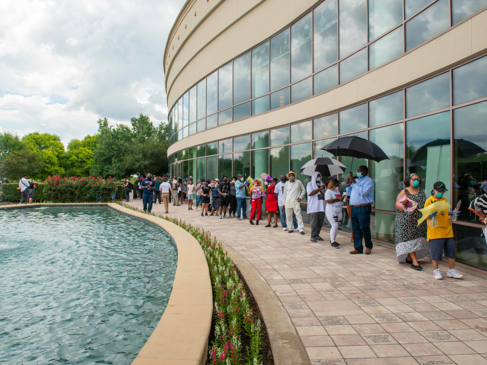 George Floyd public viewing Houston
