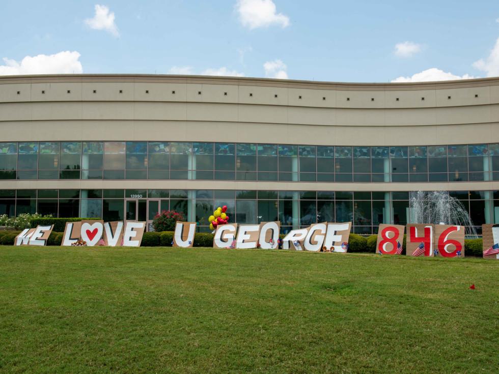 George Floyd funeral Houston