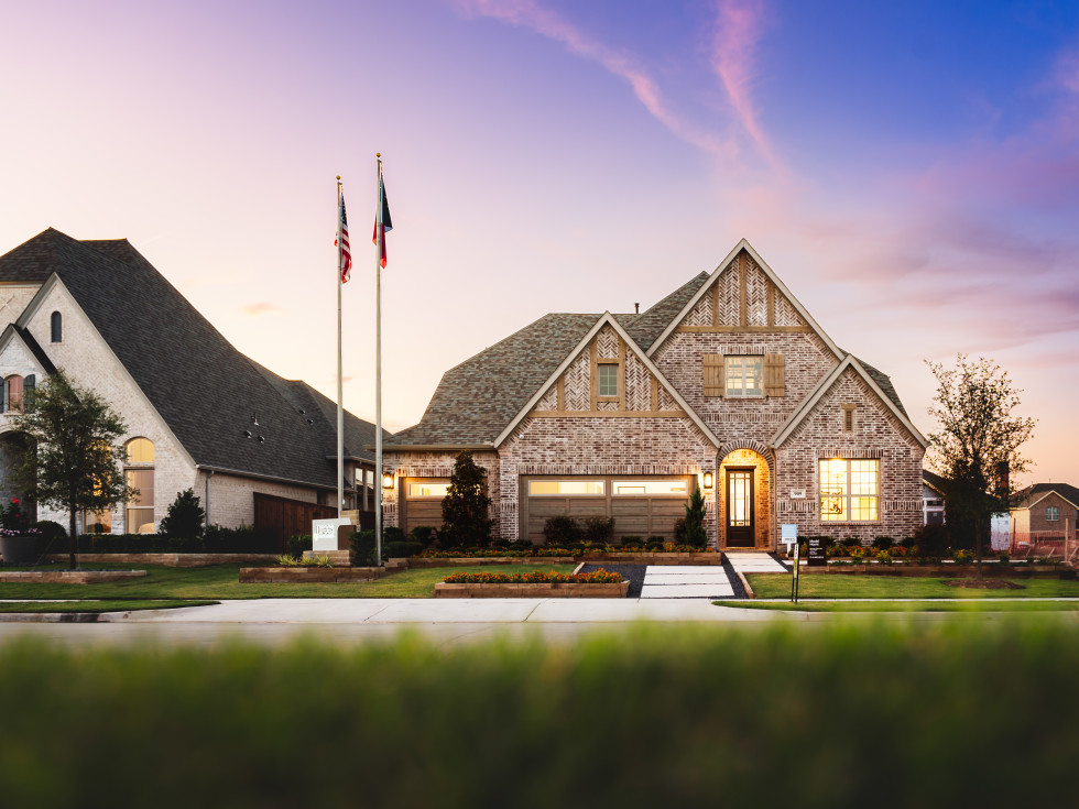 Trinity Falls model homes