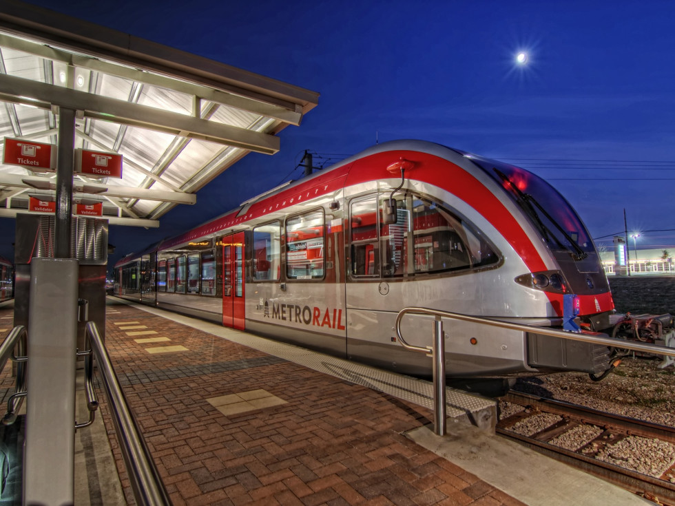 Austin MetroRail light rail train