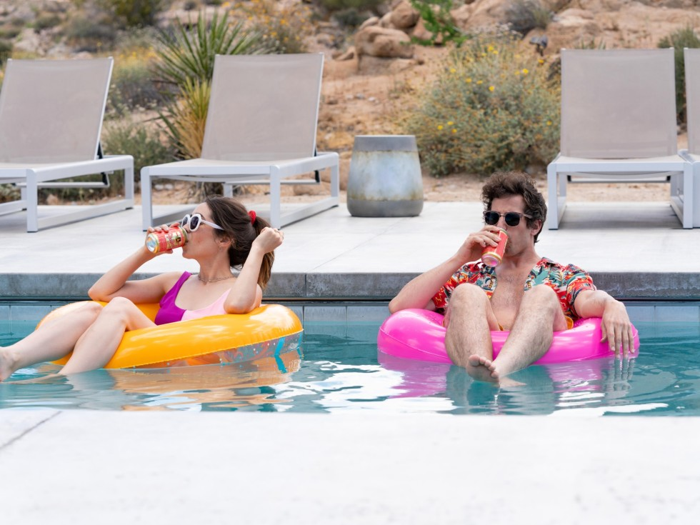 Cristin Milioti and Andy Samberg in Palm Springs
