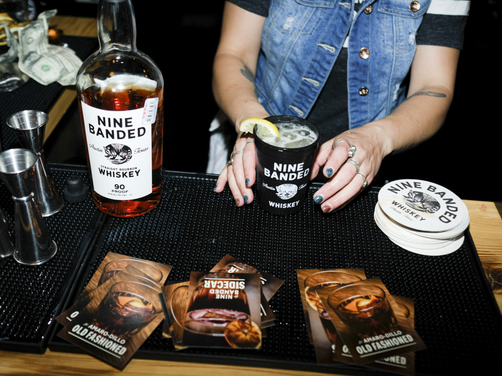 Nine Banded Whiskey bartender