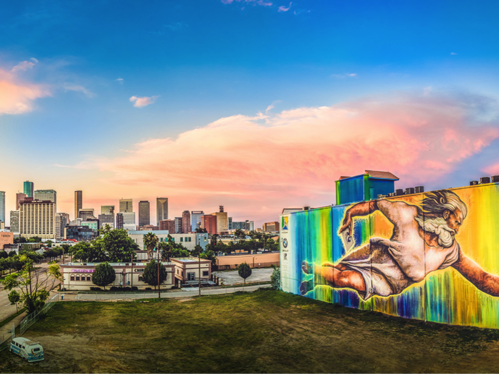 Houston mural downtown