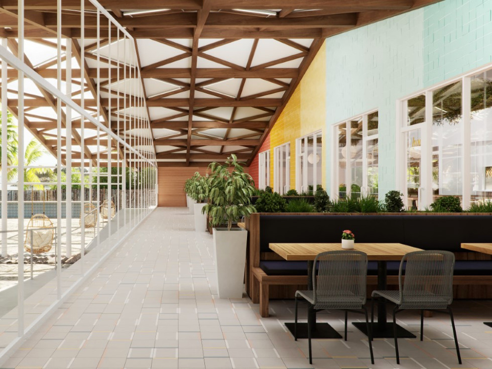 Pier 6 patio rendering