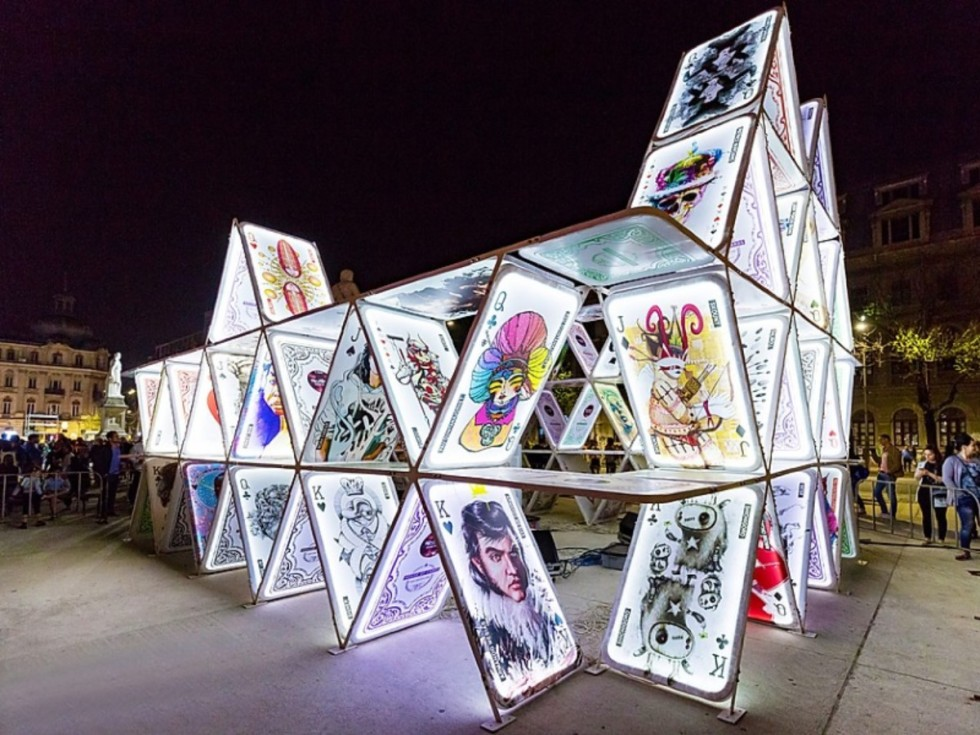 House of Cards installation