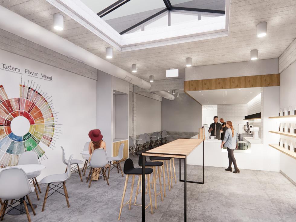Blendin Coffee Club Montrose rendering