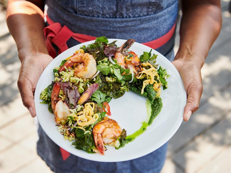 Dawn Burrell shrimp dish