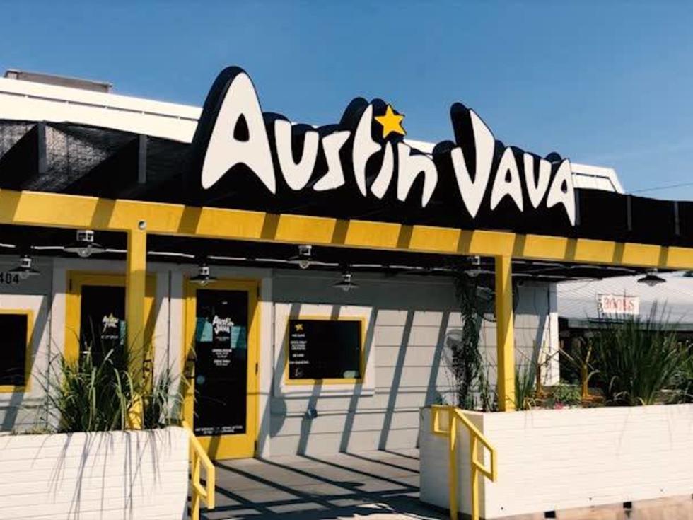 Austin Java logo airport location