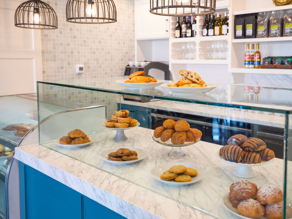White Elm Cafe pastry case
