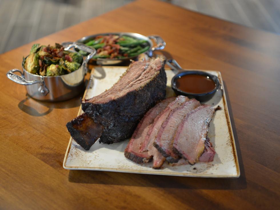 Killen's restaurant beef rib plate