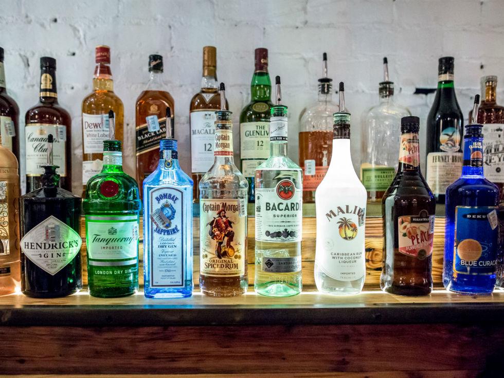Antone's downtown venue Fifth Street 2016 bar liquor bottles alcohol brands