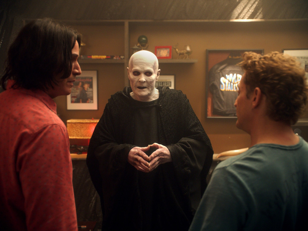 Keanu Reeves, William Sadler, and Alex Winter in Bill & Ted Face the Music