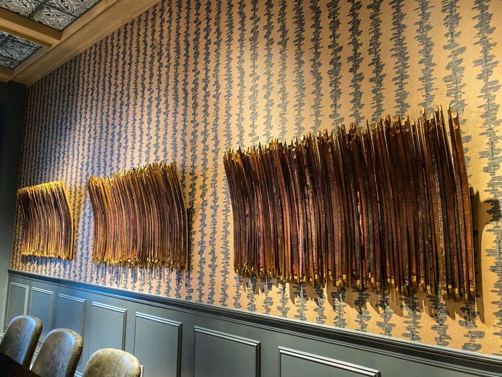 Hotel Vin, Grapevine, barrel staves art