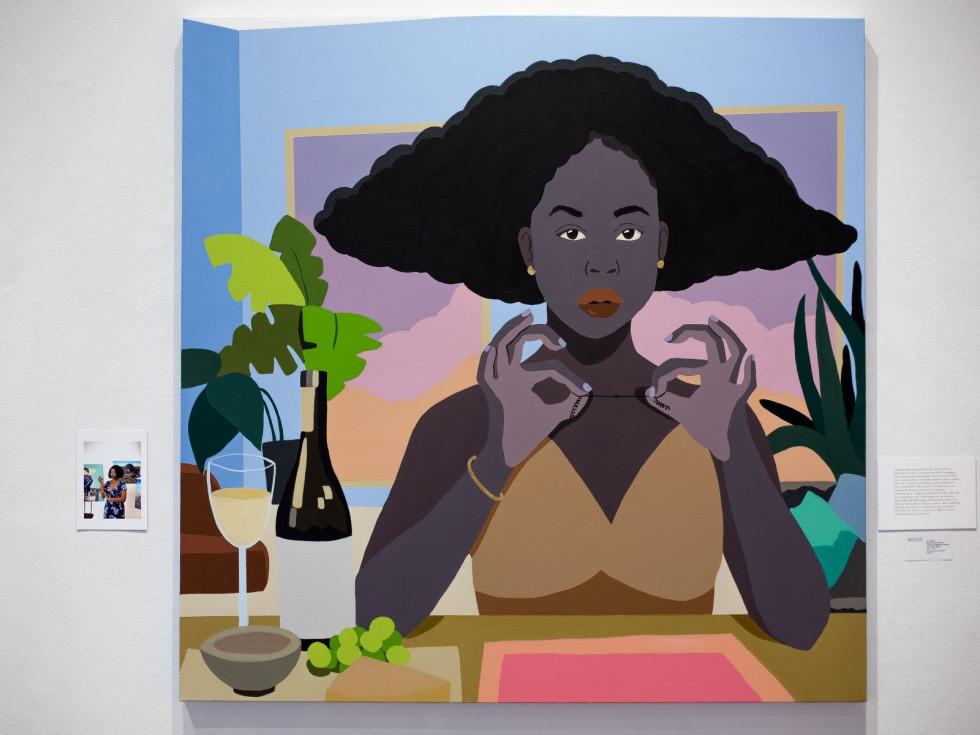"""Abi Salami self-portrait, """"Our Faces, Our Voices"""""""