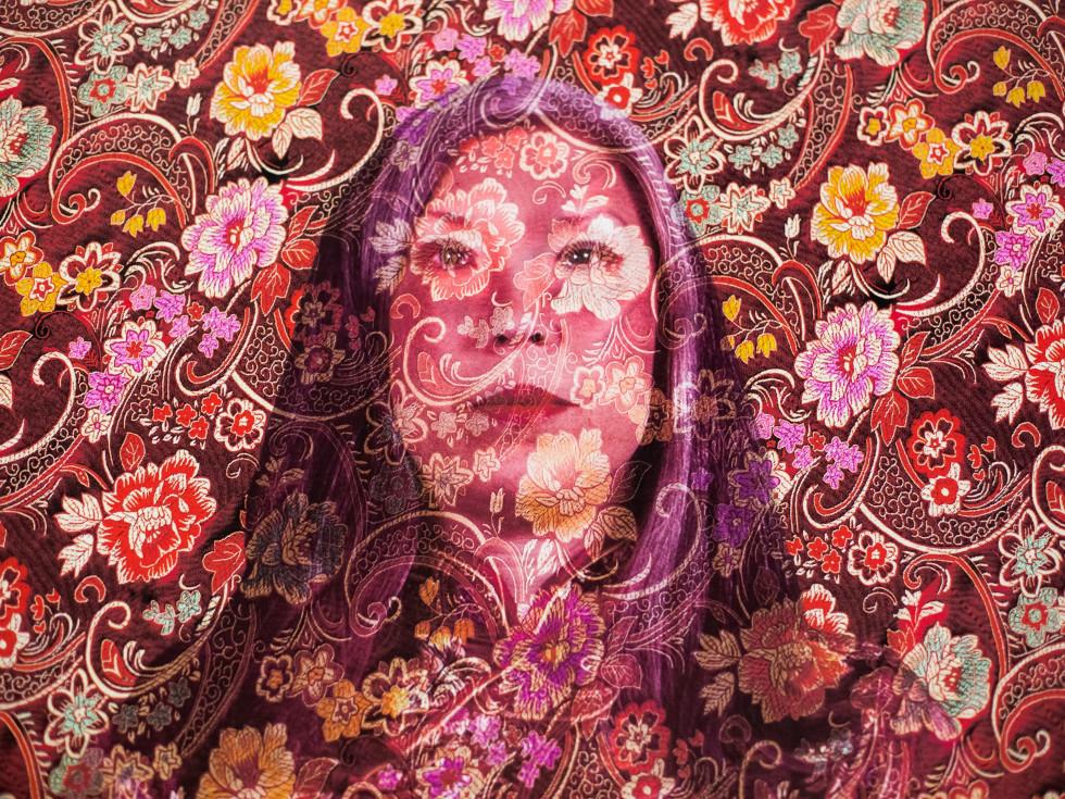 """Susan Sponsler-Carstarphen self-portrait, """"Our Faces, Our Voices"""""""