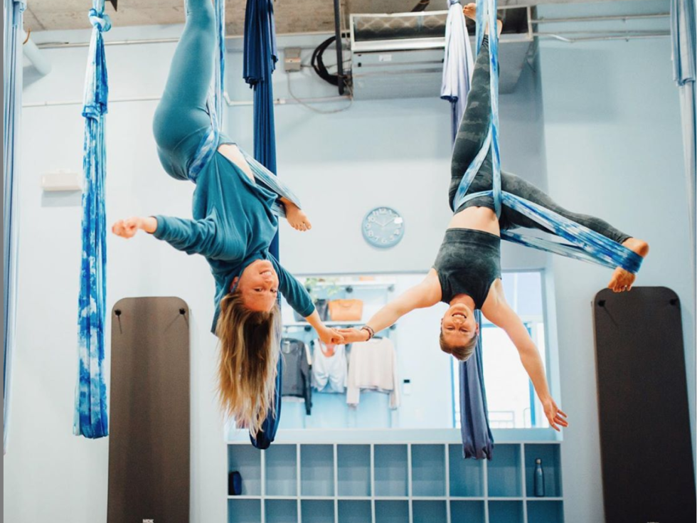 Blue Feather aerial yoga