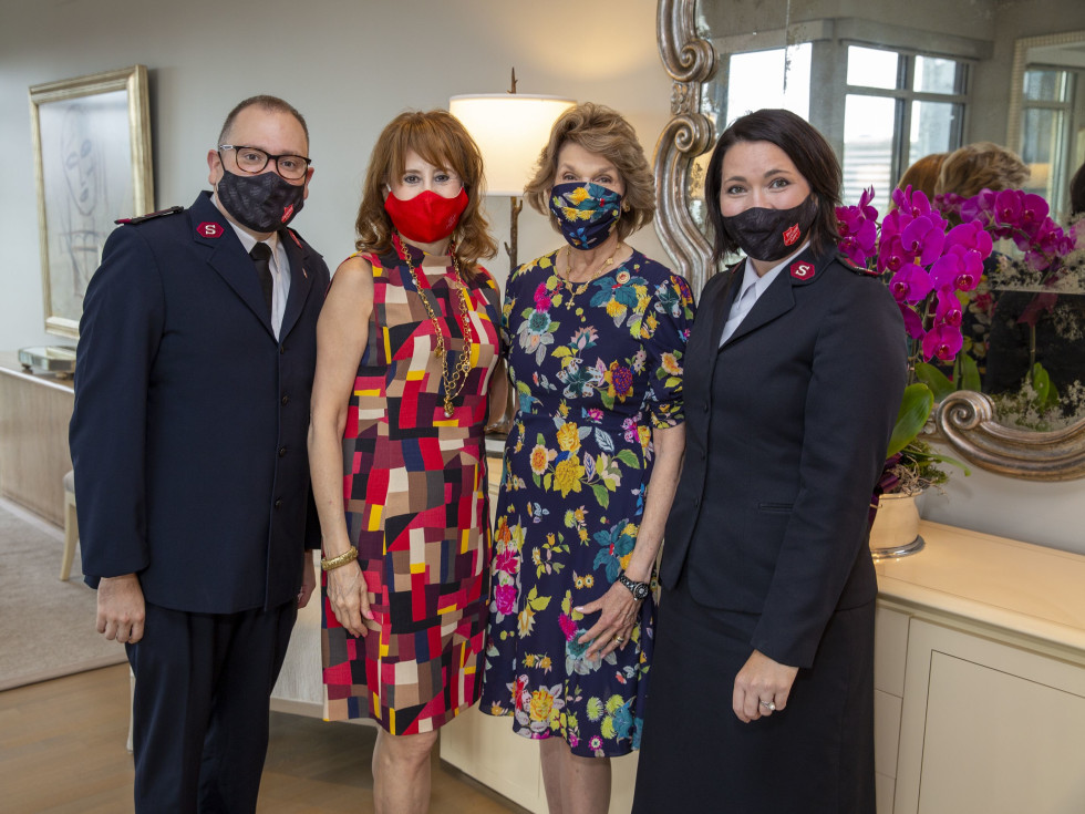 Salvation Army luncheon 2020 Chic Boutique Major Zach Bell,  Vicki West, Lilly Andress, Major Shelley Bell