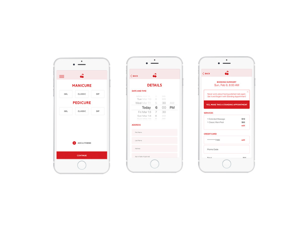 Dallas-based on-demand nail services app, Cherry