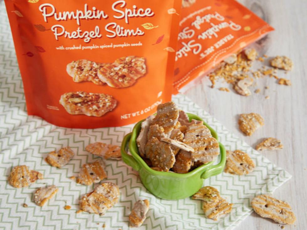 Trader Joe's pretzel slims pumpkin