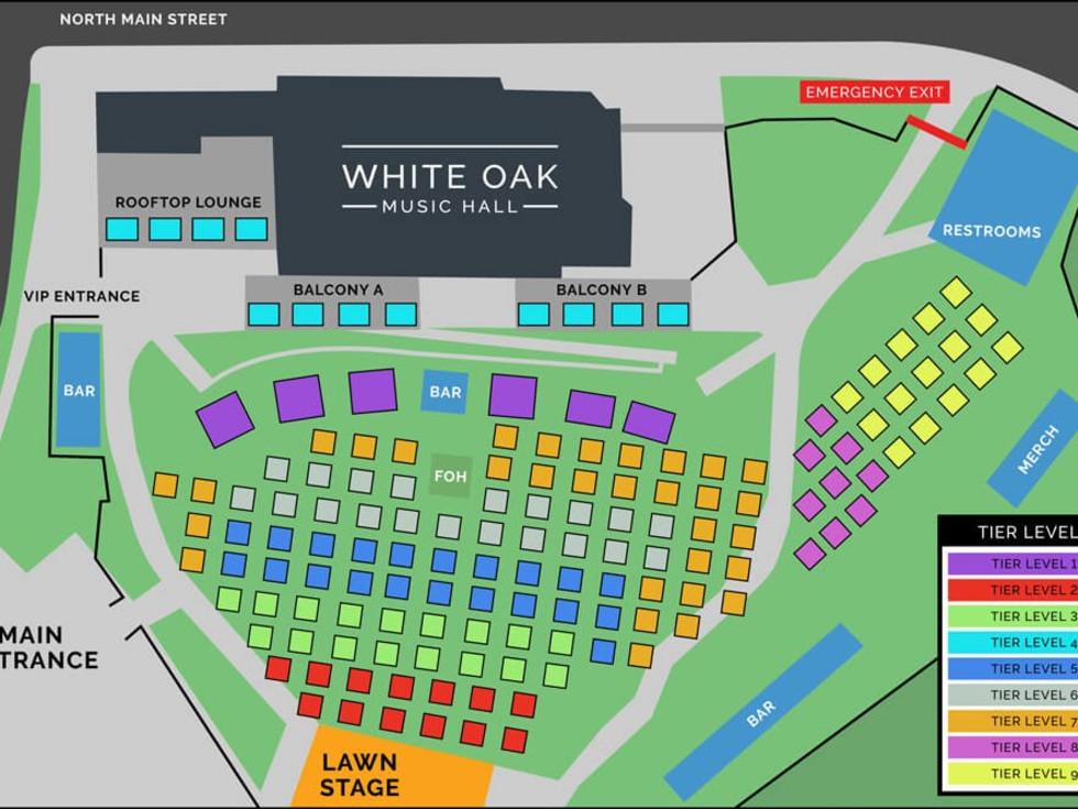 White Oak Music Hall Grid Layout