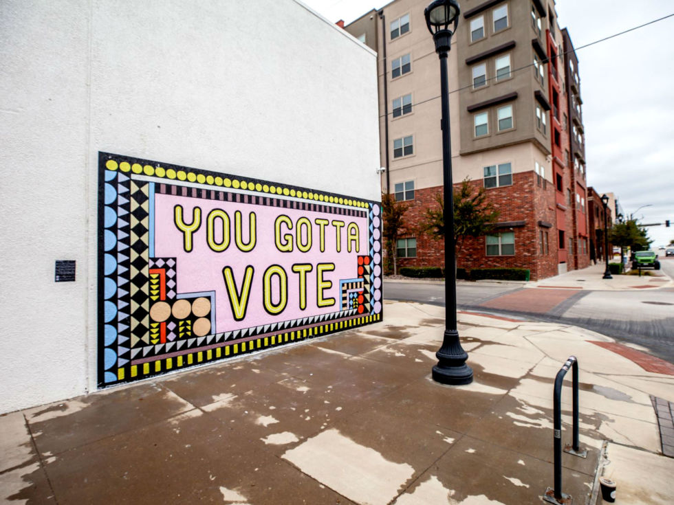 Fort Worth voting mural
