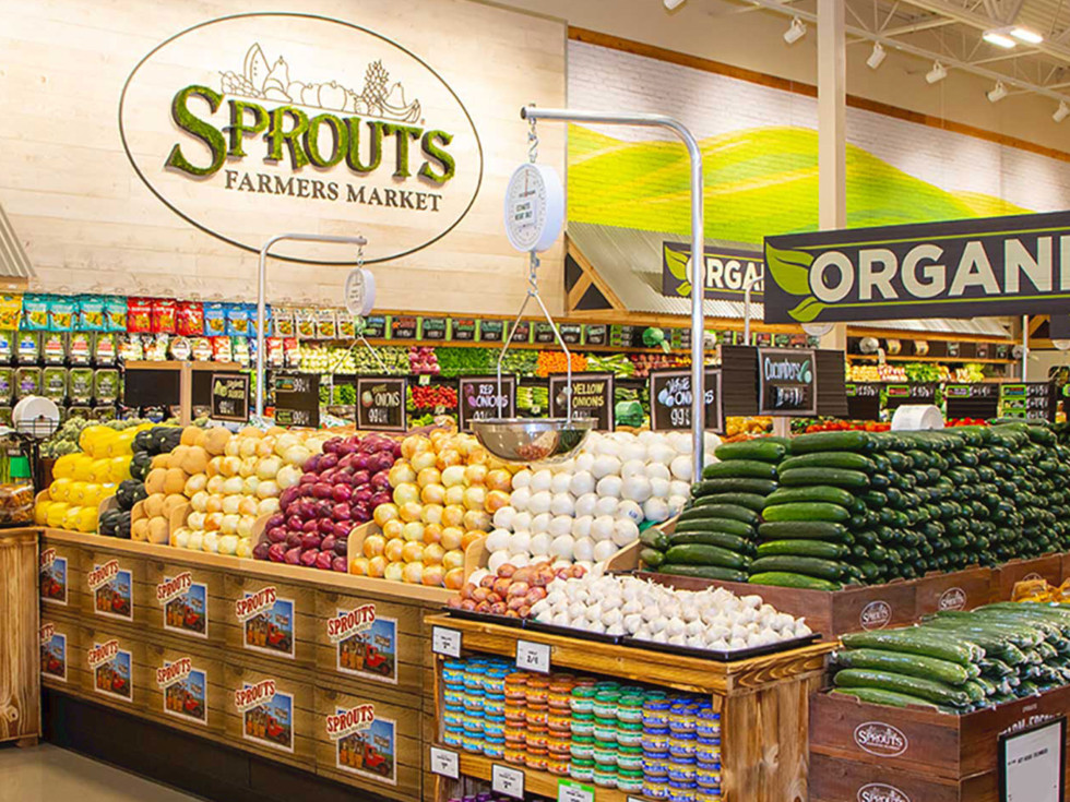 Sprouts grocery store farmers market produce section