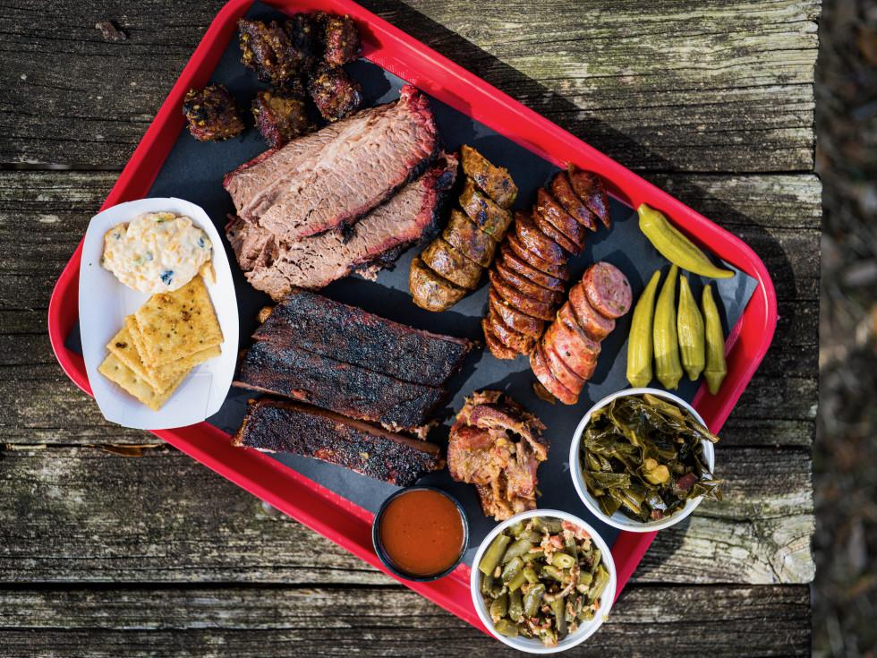 Dozier's BBQ Jim Buchanan barbecue tray