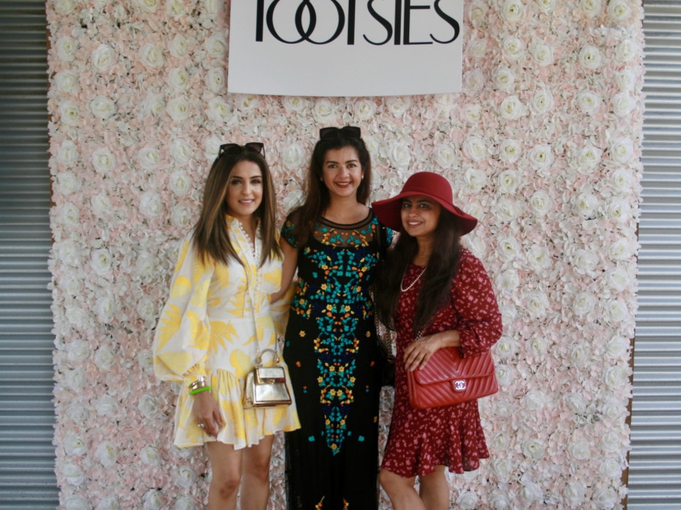 VIP Brunch Lela Rose Hope Farms 2020 Sneha Merchant, Naureen Malik, and Ruchi Mukherjee