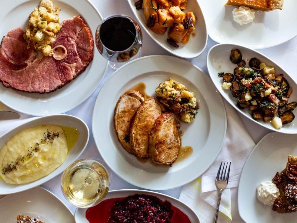 B.B. Italia Kitchen Thanksgiving meal