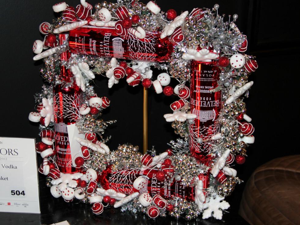 Belvedere vodka wreath
