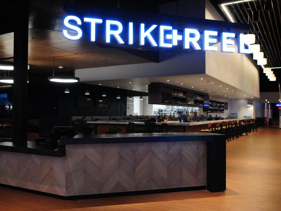 Strike + Reel lobby