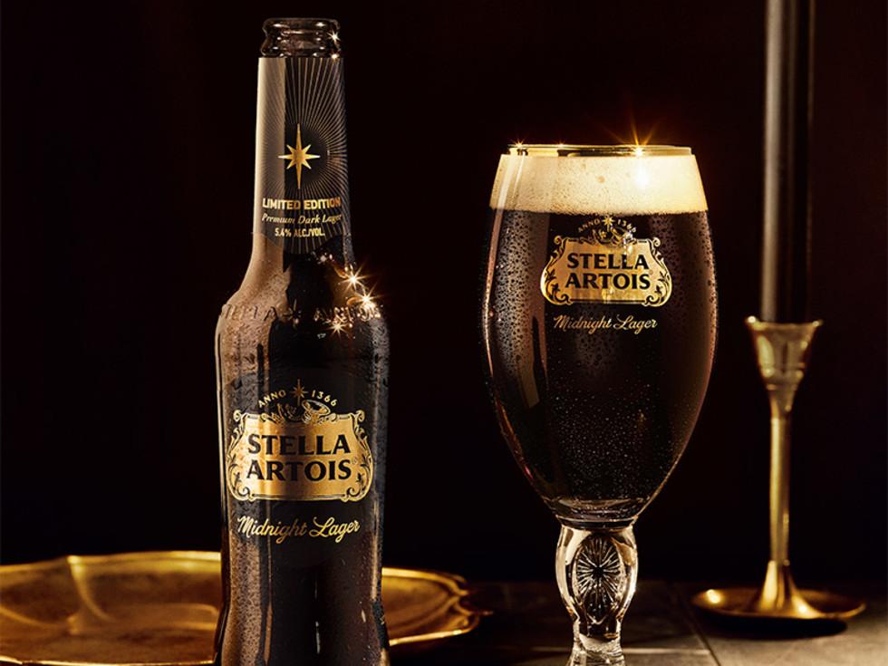 Stella Artois midnight lager