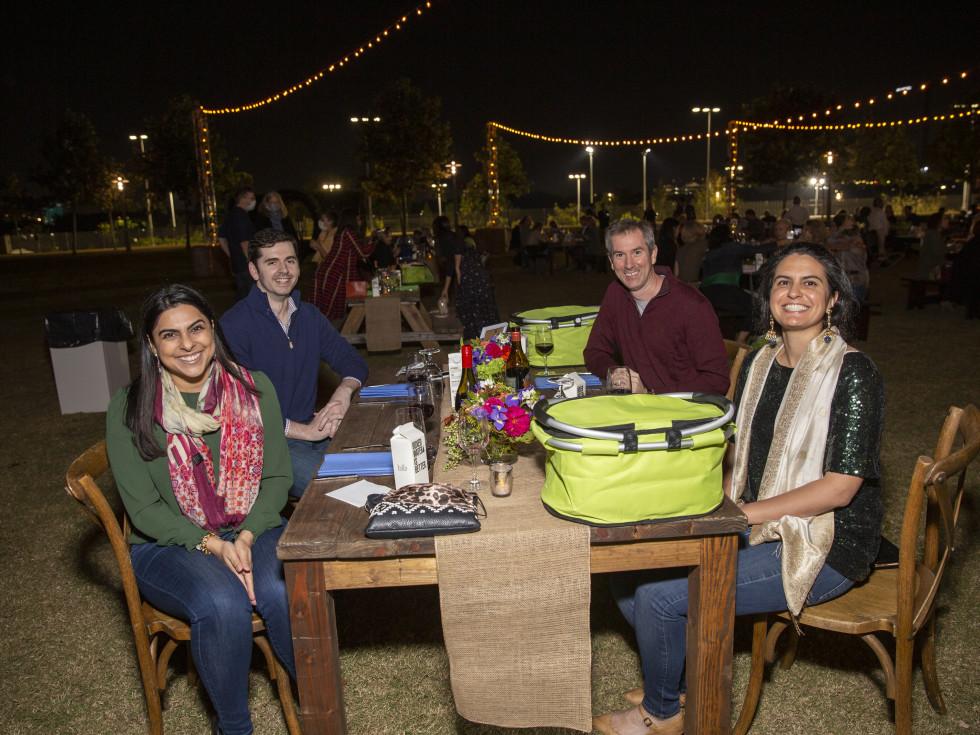 Buffalo Bayou Park picnic fifth anniversary Alisha Nathoo, Andrew Jennings, Mike Lewis, Jessie Gill