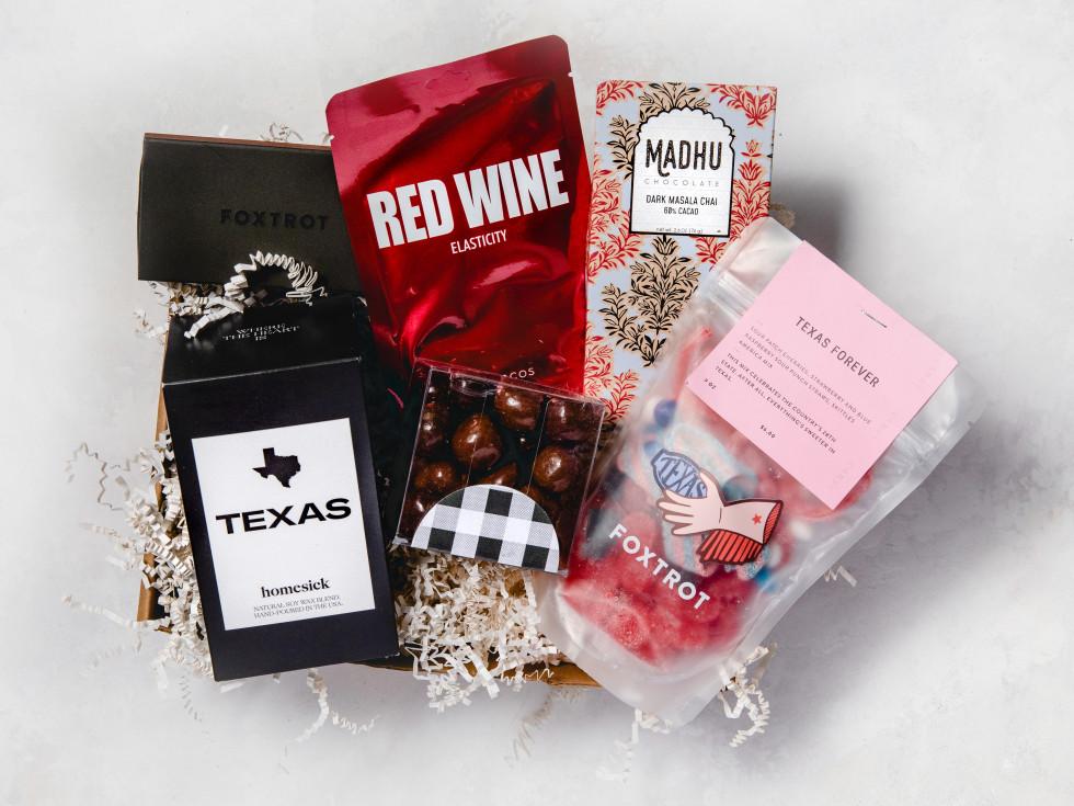 Texas self care gift basket
