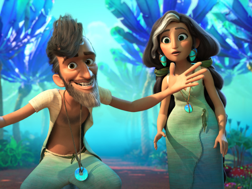 Phil and Hope Betterman in The Croods: A New Age