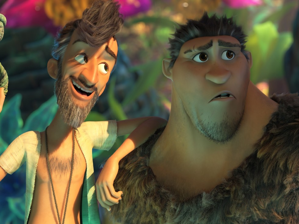 Phil Betterman and Grug in The Croods: A New Age.