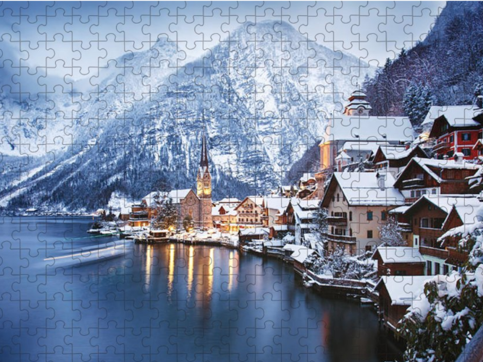 Winter view of Hallstatt, puzzle