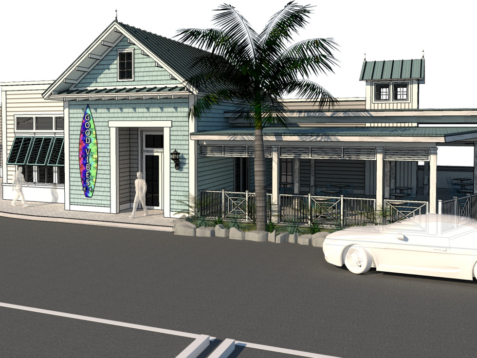 Good Vibes Burger exterior rendering