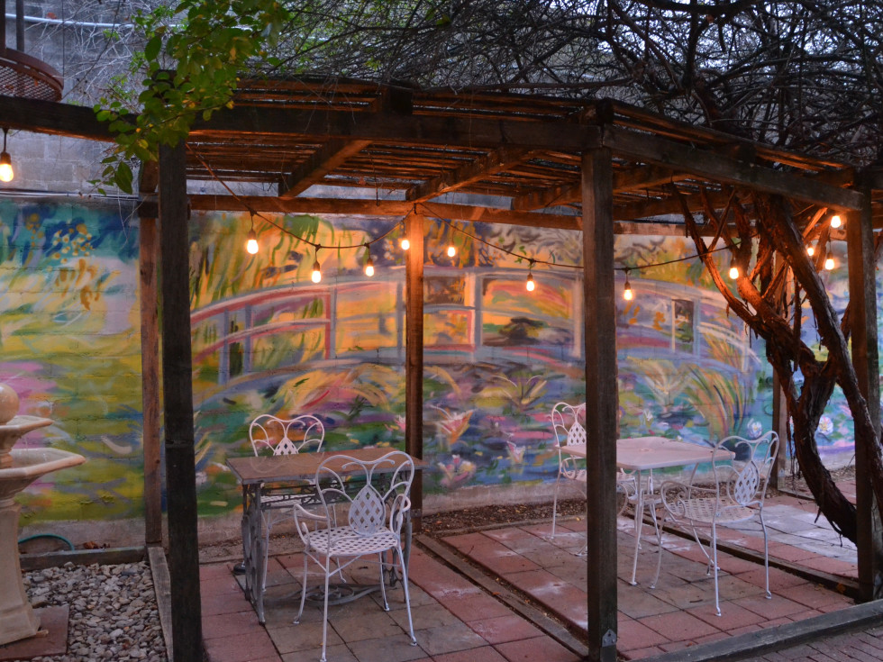 WineHaus outdoor patio mural