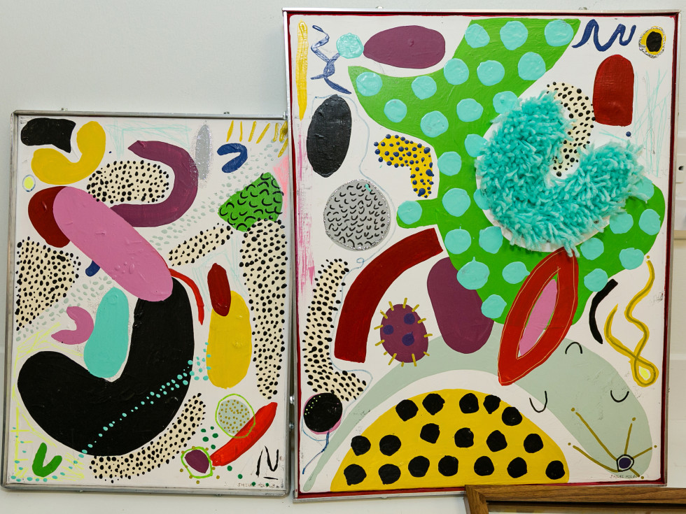 Inside Her Studio Houston Rice Village art by Shelbi Nicole