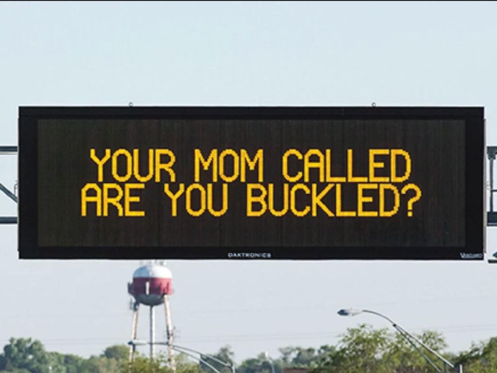digital highway sign