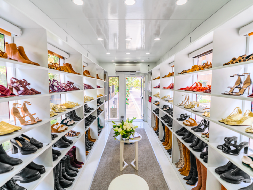 Tamara Mellon mobile shoe closet