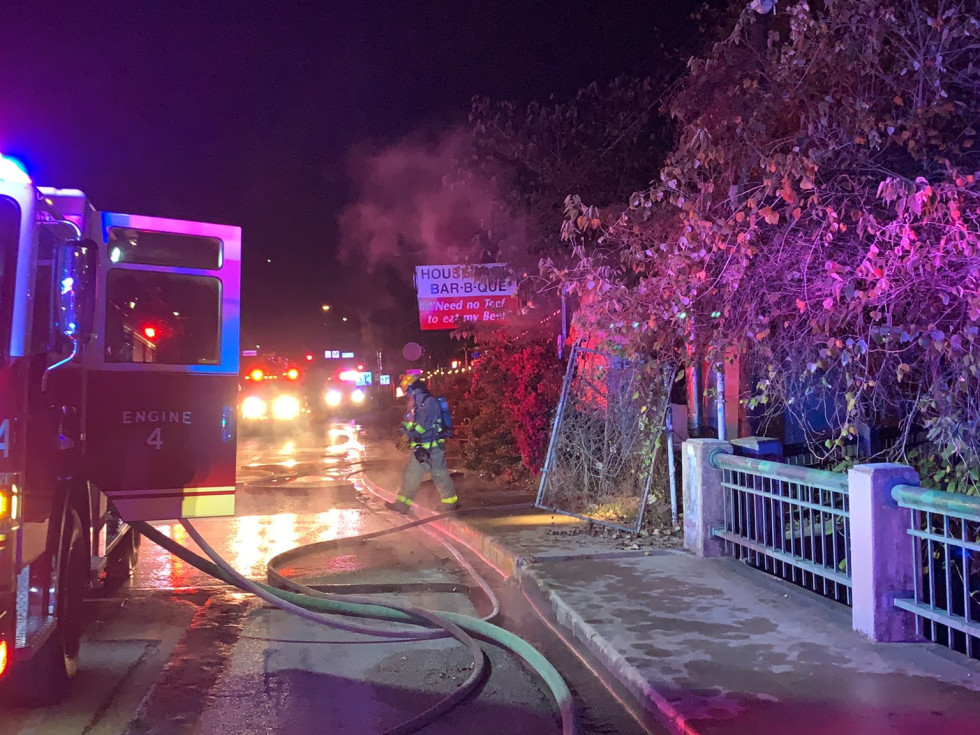 House Park Bar-B-Que fire
