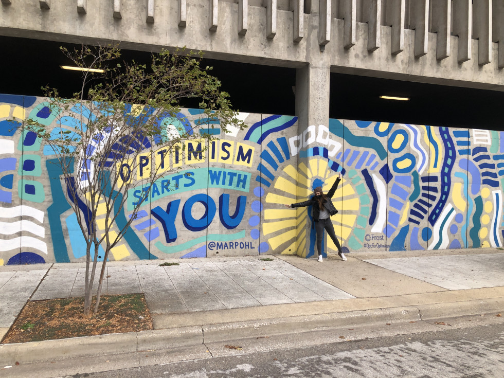 Dallas Optimism Starts With You mural