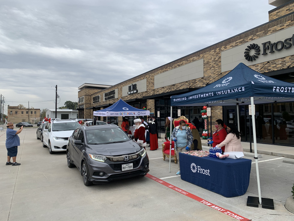 Frost Houston donation drive-through
