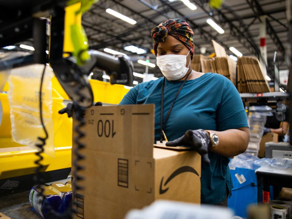 Amazon fulfillment center Houston worker factory